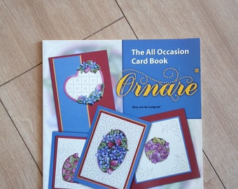 Ornare The All Occasion Card Book by Diny Van De Lustgraaf, Paper Pricking Book,
