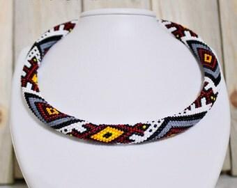 Crochet bead pattern, Beads crochet rope patterns,  Beads crochet tutorial, Pattern Crochet Necklace, Beaded rope pattern beaded necklace