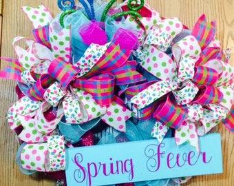 Spring Wreath, Mother's Day, Summer Wreath,  Beach Wreath,  Spring Wreath, Front Door Wreath, Spring Decor, Front Door Decor