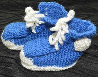 Knitted baby booties Crib Shoes baby sneakers knitted sneakers crochet baby shoes Baby Shower Gift Baby slippers Newborn booties for baby