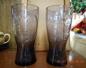 Set of Two McDonald's Speedee Purple ~ Drinking Glasses