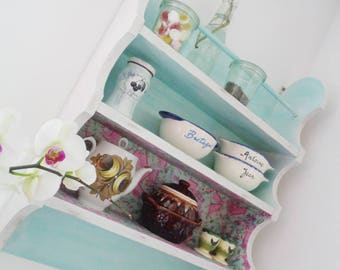 Shabby Chic shelf vintage kitchen shelf wood Mint romantic country house