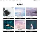 "Premade Blogger Template Responsive Design - Blog Design ""Kallisto"" - Instant Download - Graphic & Web Design"