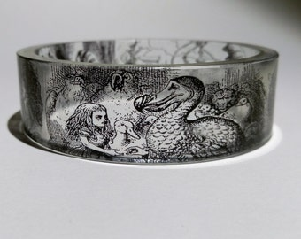 Alice in Wonderland Resin Bangle