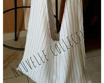 Bag Tote double gauze linen. Unique piece. Handmade.
