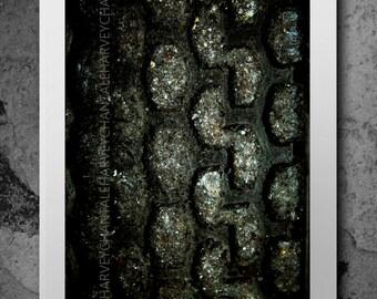 Photo print art photography picture print abstract dark 8x12 10x15 14x21 16x24 18x27 interior decoration black wheels foto macro wall art