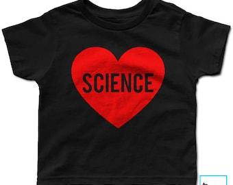 Science Love | Kids Science T-shirt | Science Shirt | Science Tee | Science T-shirt | March for Science | Science March | Kids T-shirt