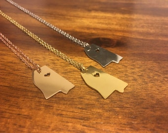 Mississippi Necklace - Mississippi Jewelry - Mississippi Pendant - Mississippi Charm - Mississippi Outline - Mississippi