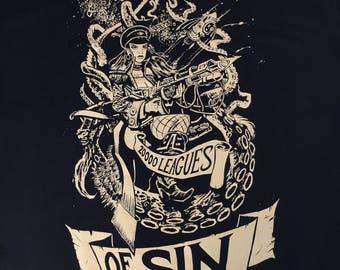 20,000 Leagues Of Sin - Original Scream-Printed T-Shirt!