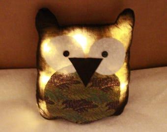 Bright Leds owls Jungle fabric cushion