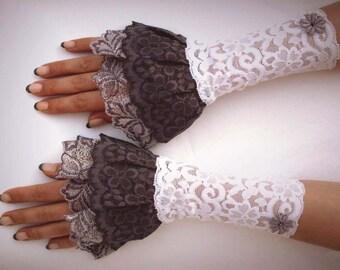 sweet fairy gloves layered look UNIQUE GR S Elf fairy goa harajuku kawaii lolita