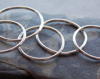Super Skinny Stacking Ring in Sterling Silver