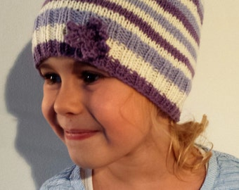 Cable Hat, Girls Hat Knitted, Children Hat Toddler Girl, Winter Hat for Girls, Kids Hat, Knit Hat, Knit Beanie,