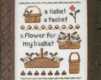 A Tisket a Tasket by Prairie Grove Peddler Counted Cross Stitch Pattern/Chart