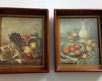 Vintage Framed Prints Set Of 2 Prints