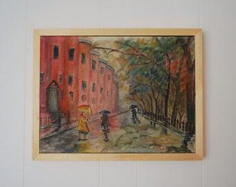 Cityscape Vintage Painting