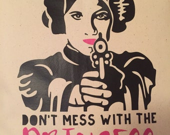 Don't Mess with the Princess - Pillow Cover