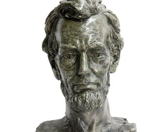 President Abraham Lincoln Bust Sculpture - 16th US President, American Historical Statue