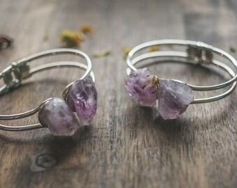 Amethyst bangle | Handmade bracelet | Amethyst bracelet