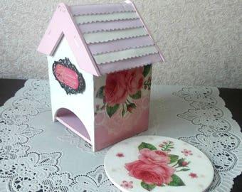 tea box /Чайный домик с подставочкой под горячее