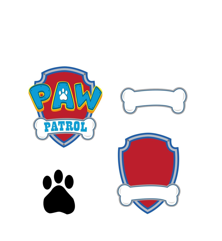 paw patrol svg vector logo digital download dxf svg eps
