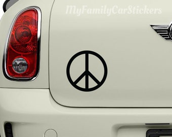 Peace Sign Vinyl Decal Peace Sign Sticker Peace Sign Car Decal Laptop Sticker