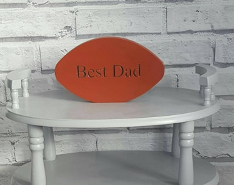 Freestanding dad rugby ball