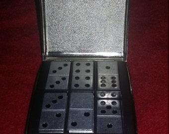 1960s domino set in metal case