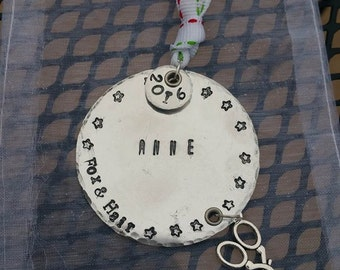 Personalized Hand Stamped Ornament