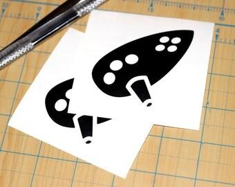 Ocarina of Time Sticker | Zelda Ocarina Decal | Ocarina Sticker