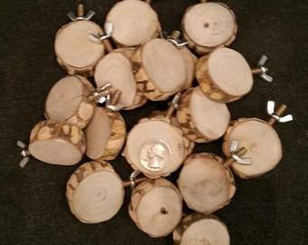 "1.5"" to 1.75"" diameter All Natural Nubby Wood Round Platform Bird Perch"