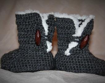 Baby/Girl Ugg Style Crochet Boots