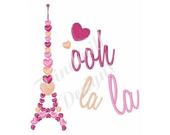 Ooh La La - Machine Embroidery Design