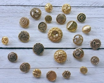 Vintage gold button collection