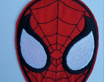 Spiderman Face Iron On Patch Sew on Trandfer