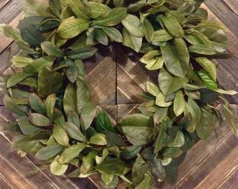 Rustic Magnolia Wreath  - Custom Wreaths - Handmade - Summer - Spring - Housewarming Gift - Birthday Gift - Sympathy - Wedding Gift