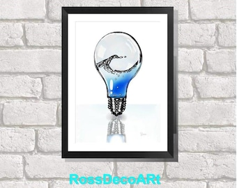 printable sheet. light bulb. Sea bulb.