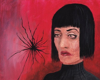 Spider Thought - traditional painting 10X8 matte print