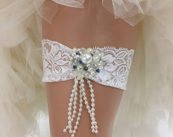 Bethany - Glamorous Bling Bridal Wedding Garter