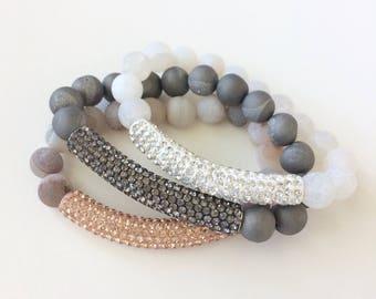 Pave Stack Bracelets