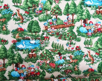 Snow White and the Seven Dwarfs printed oxford fabric, cotton fabric - 50cm