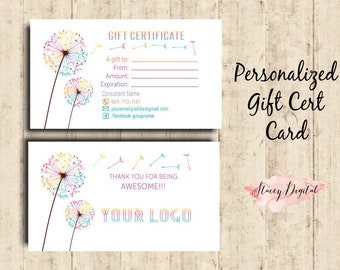 LLRoe Home Office Approved Business Card - Dandelion - Gift Certificate- L7A Digital