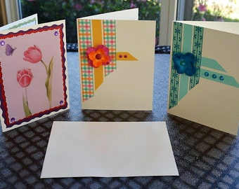 Variety pack of cards, Floral cards, Blank cards, Sets of cards, Washi tape cards, Homemade cards, Greeting cards