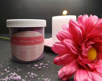 Lavender Bath Salts, 6 oz., Bath Soak, Tea Tub