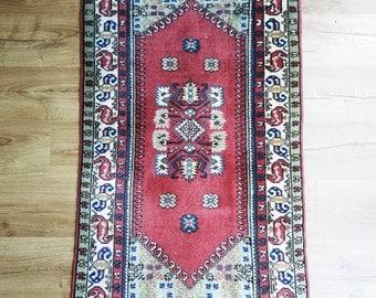 Turkish Kula Rug - 2 x 4 - Vintage 1970s - Wool