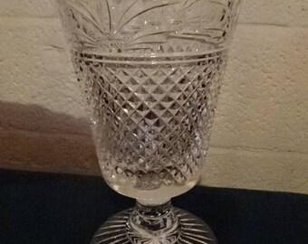 Stunning Lead Crystal Cut Glass Vase/vintage