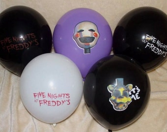 FNAF Five Nights at Freddy's 12 inch latex Balloons