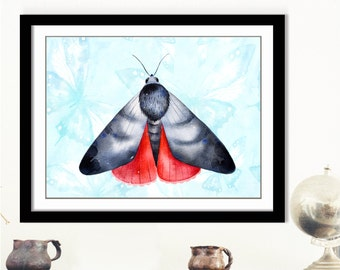 Moth print, Moth printable art, Nature print, Insect wall art, Butterfly print, Gallery wall print, Moth art, Pastel moth print, 8x10 moth