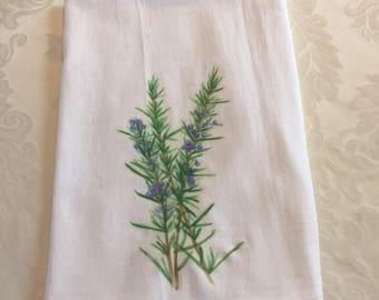 Rosemary flour sack towel