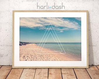 Beach Triangles - Wall Art Print